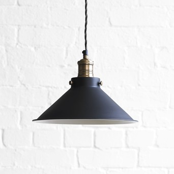 Dexter in ash black with a white interior & Our Designer Pendant Lights - Lighting azcodes.com