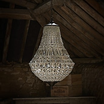 Juliet Crystal Chandelier Tapered Gl Ball Pendant Lights