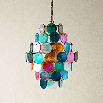 new product b7ee5 6ec5f Orb Chandelier with multi coloured glass roundels Pendant Lights