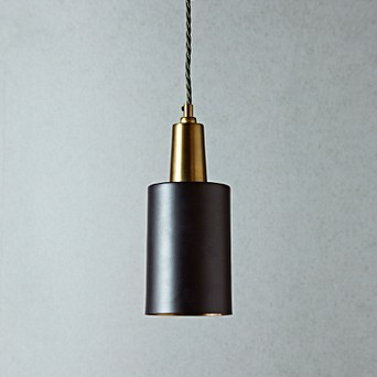 Mcmegan Black Pendant With Br Interior Lights