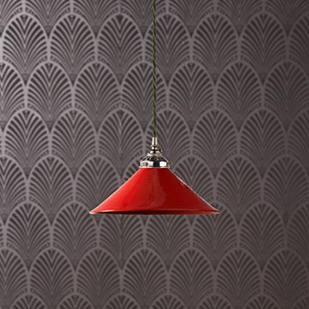 Regular 27cm Hania Pendant With A Cherry Glaze Clic Light Kit In Antiqued Silver