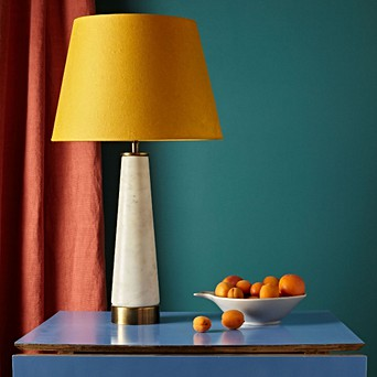 Sphynx Table Lamp In White Marble And Brass