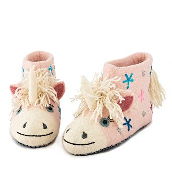 c84932a2164 Sew Heart Felt Adult Unicorn Slippers