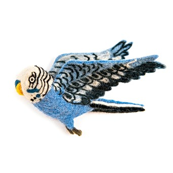Flying Blue Budgie Trio | Sew Heart Felt