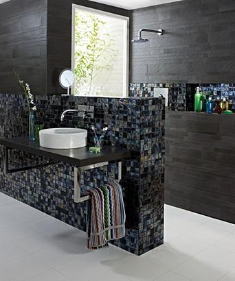 Sel Black Square Mosaic 30 6x30 6cm
