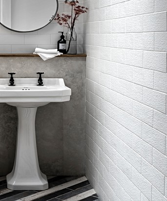 Touchline White Tile Topps Tiles