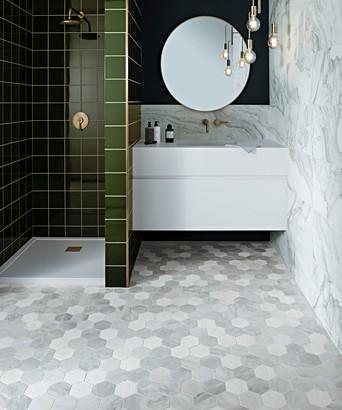 Hexmix Carrara Mosaic Tile Topps Tiles
