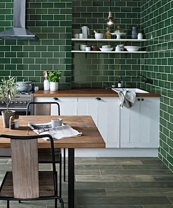 Green Wall Tile | Tile Design Ideas