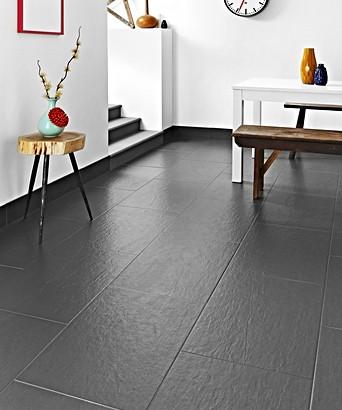 Slate Effect Black Floor Tile Topps Tiles