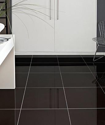 Pure Black Tile Topps Tiles