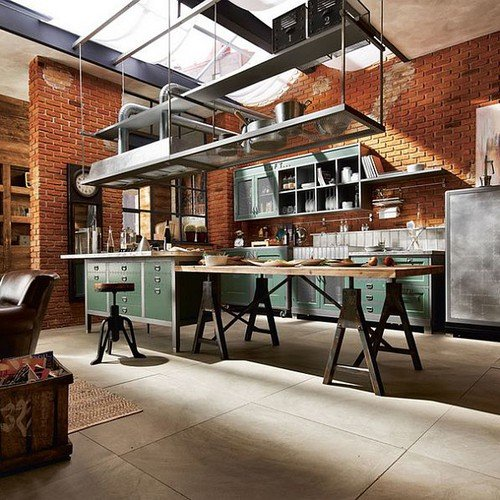 47 Incredibly Inspiring Industrial Style Kitchens: Tips For Lighting And Décor