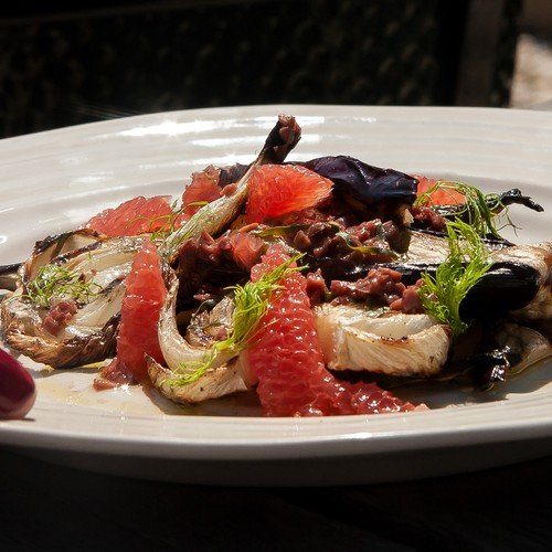 Aubergine And Fennel With Pink Grapefruit Author