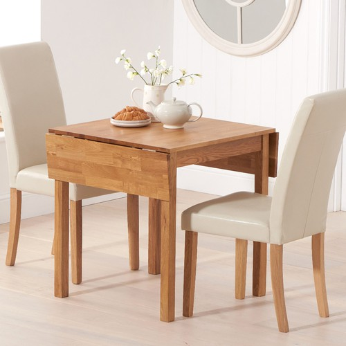 Oxford 70cm Solid Oak Extending Dining Table With Albany