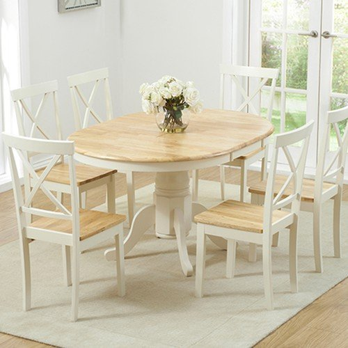 Epsom Cream Pedestal Extending Dining, Round Extendable Dining Table And Chairs Uk