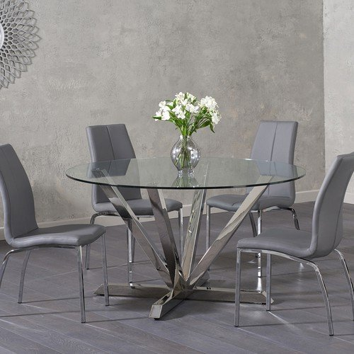 A Beautifully Contemporary Table The Reno Round Glass