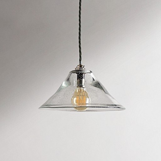 Smaller Bonnie Pendant In Clear Glass With A Classic Kit Antiqued Silver