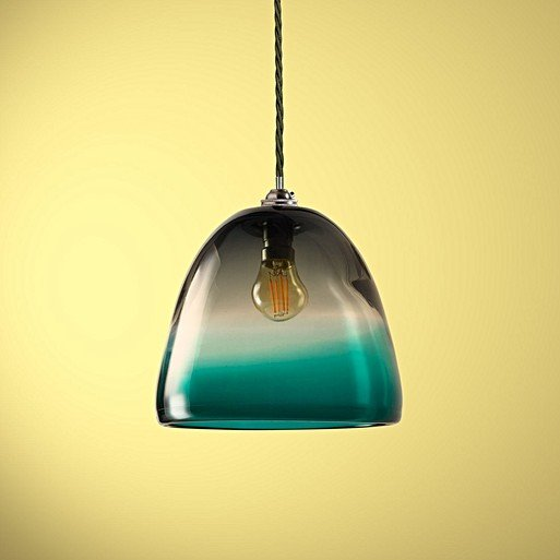 Inverie Pendant In Dust With A Turquoise Rim Classic Kit Antiqued Silver