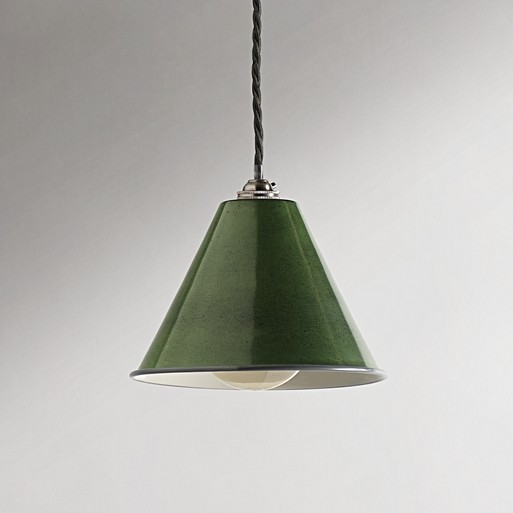 Stanley Pendant In Military Green With A Classic Kit Antiqued Silver