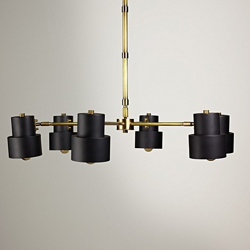 Ursula Chandelier In Blackened Brass