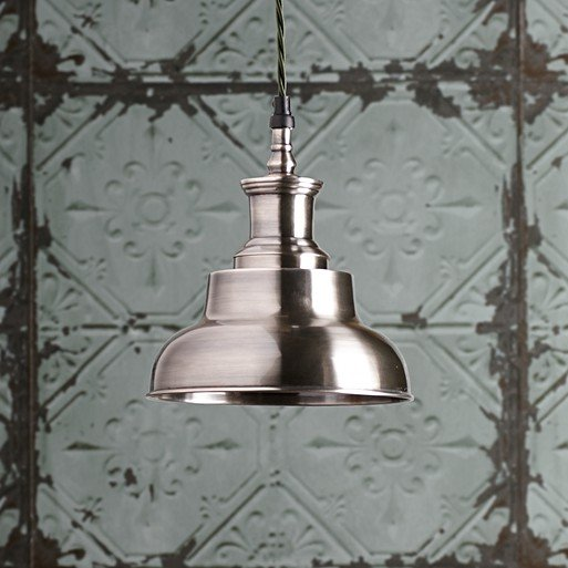 Sadie Pendant Light In Antiqued Silver