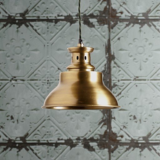 Saturn Pendant Light In Antiqued Brass