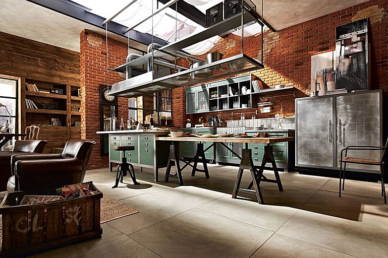 Marvelous The Industrial Style Kitchen U2013 Tips For Lighting And Décor U003c U003e