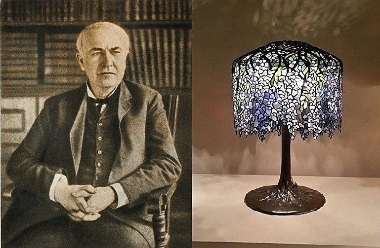 The history of design in table lamps 1 thomas edison to art nouveau jan 23 2017 light and shade mozeypictures Gallery