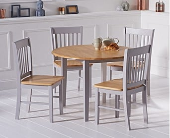 2e4a9e4558d0 Amalfi Oak and Grey Extending Dining Table with Chairs