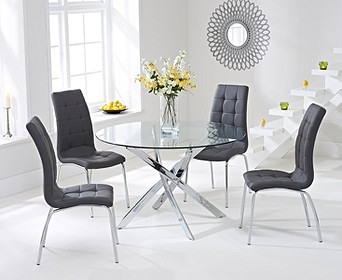 Small Glass Dining Table & Chair Sets   Oak Furniture Superstore