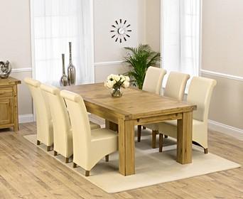 Extendable Oak Dining Table Set Oak Furniture Superstore