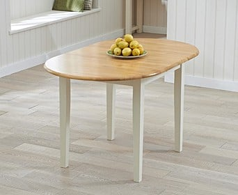 Amalfi Oak And Grey Extending Dining Table