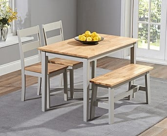 Chiltern 120cm Extending Cream And Oak Table With Chiltern