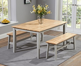 Kitchen Tables With Benches | All Table And Bench Sets