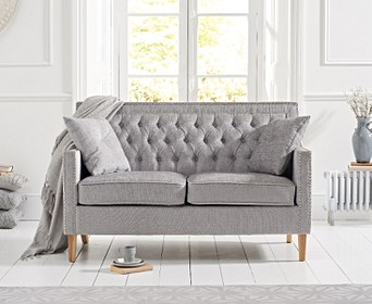 Chatsworth Chesterfield Grey Plush 2