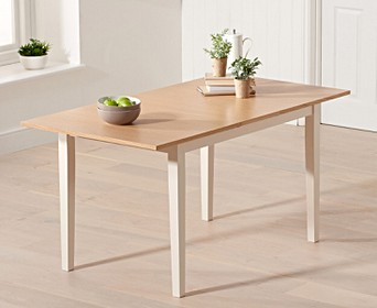 Chiltern 120cm Extending Cream And Oak Dining Table