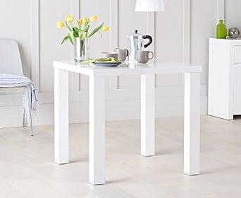 atlanta 80cm white high gloss dining table atlanta