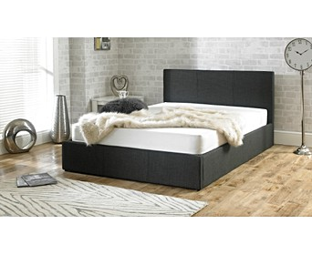 e192f6c25334 Sterling Fabric Charcoal Fabric Ottoman King Size Bed