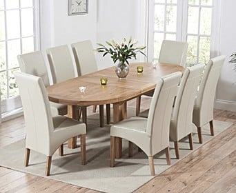 uk availability f8040 8630e Oval & Round Dining Table & Chair Sets | Oak Furniture ...