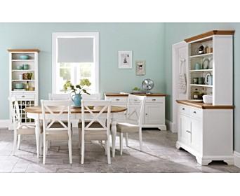 Painted Oak Extending Dining Table Sets Oak Furniture Superstore
