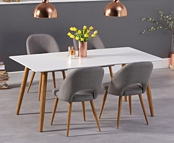 Malmo 180cm Matt White Dining Table