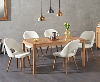 The Oxford 150cm Solid Oak Dining Table, Modern Oak Dining Room Furniture