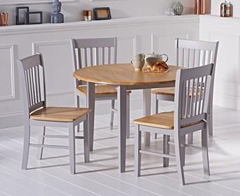 Oak Grey Dining Table Sets Oak Furniture Superstore