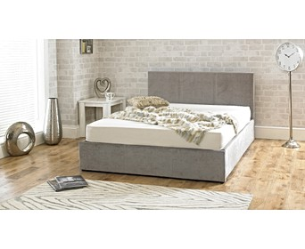 6e65eec4ce61 Sterling Fabric Stone Fabric Ottoman Double Bed