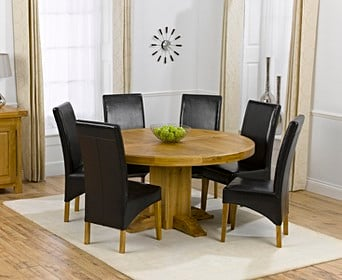 Oval Round Dining Table Chair Sets Oak Furniture Superstore