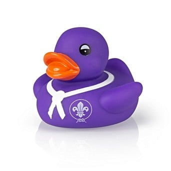 Rubber Duck With World Emblem