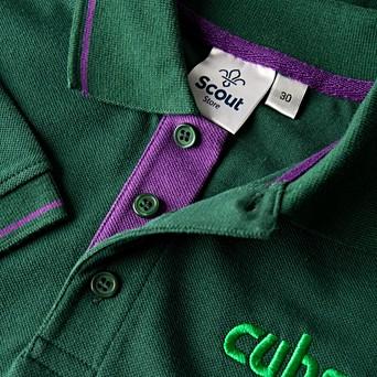 "36/""  NEW CUB POLO SHIRT OFFICIAL CUBS UNIFORM GREEN 26/"""