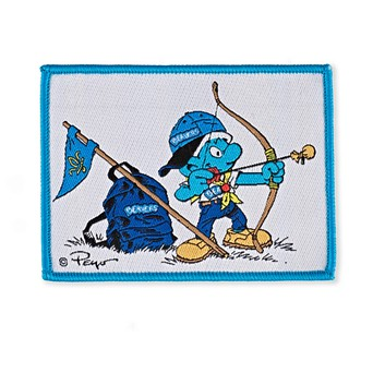 2703b2049 Smurf Beaver Scout Blanket Badge 8.7cms x 6.4cms Accessories