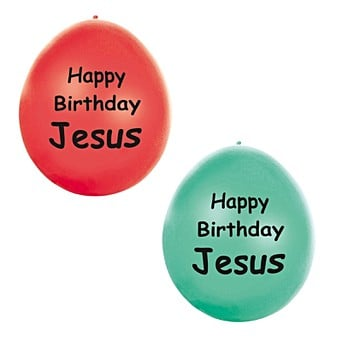 Pk 10 Happy Birthday Jesus Balloons
