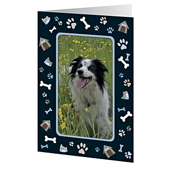 Give A Dog Bone Photo Frame Card