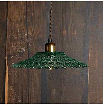 Eider Pendant Light In Recycled Green Glass